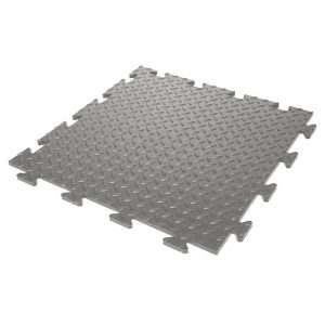 Diamond Checker Plate Grey garage flooring tile UK