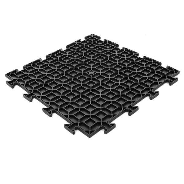 Diamond Durbar black tile reverse side