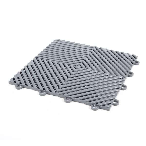 Vented ribbed self draining grey mats