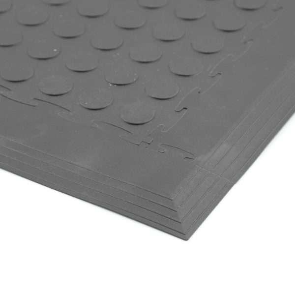 Discflex garage and workshop tile penny coin surface
