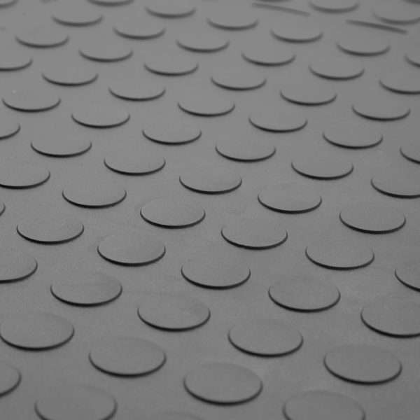 Discflex garage mat detailed image of penny coin type surface