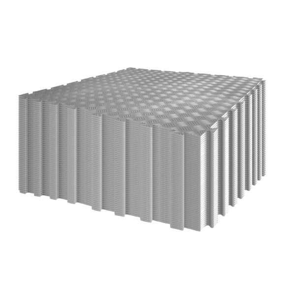 Grey Garage flooring diamond durbar pack 140 tiles for 5 by 7 meters area