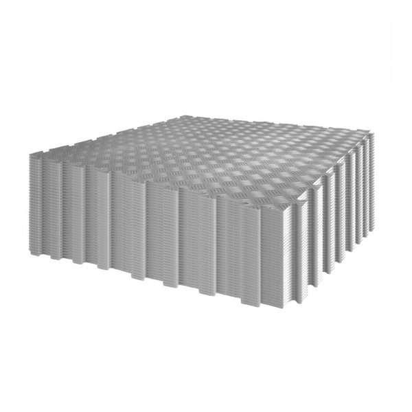 Grey Garage flooring diamond durbar pack 96 tiles interlocking floor covering