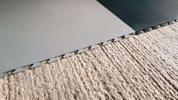 Smoothflex black and grey utility rooms PVC mats