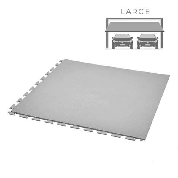 Smoothflex pvc vinyl office floor garage floor tiles grey large double garage packs flooring uk