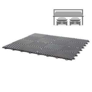 vented ribbed self draining double garage flooring pack for wet areas PP plastic waterproof garage floors direct uk