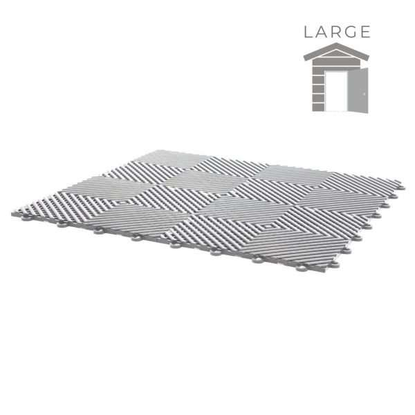 grey vented ribbed tiles for large shed flooring pack for wet areas PP plastic waterproof garage floors direct uk open