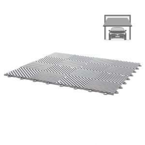 grey vented ribbed tiles for standard garage flooring pack for wet areas PP plastic waterproof garage floors direct uk