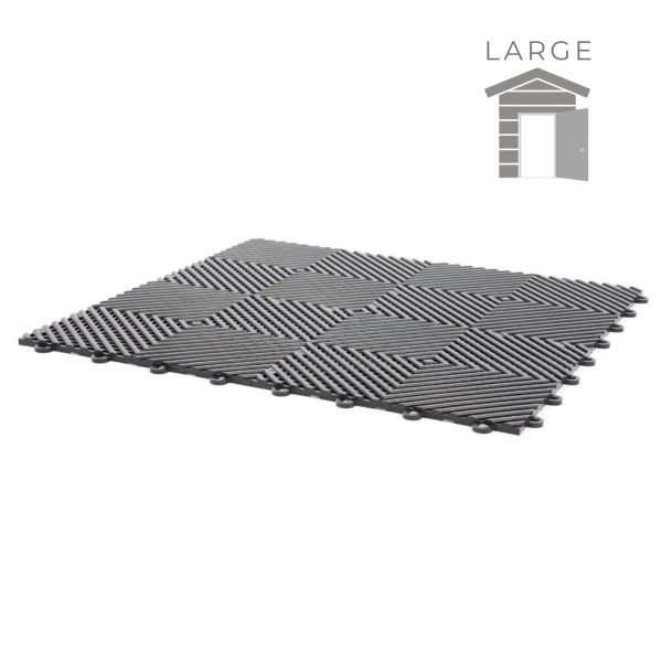 vented ribbed tiles for large shed garage flooring pack for wet areas PP plastic waterproof garage floors direct uk open