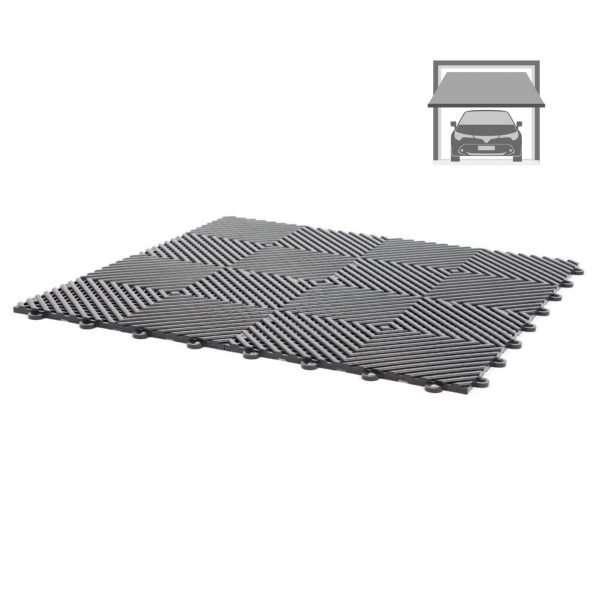 vented ribbed tiles for standard garage flooring pack for wet areas PP plastic waterproof garage floors direct uk