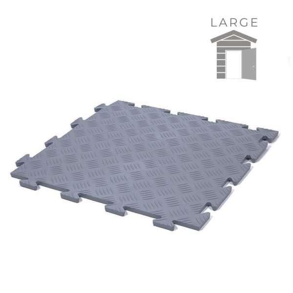 Dark Grey Durbar Garage flooring tiles large shed pack