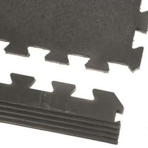 Gymguard side ramp in black rubber